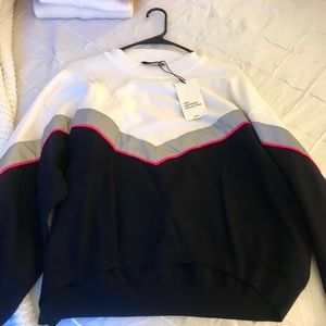 Zara Color Block Sweatshirt with Reflective Band